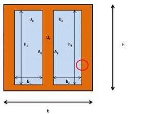 La finestra tipo per il calcolo della trasmittanza.