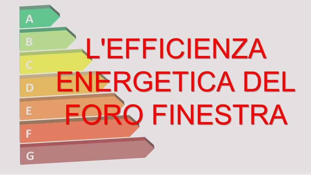 efficienza energetica finestre