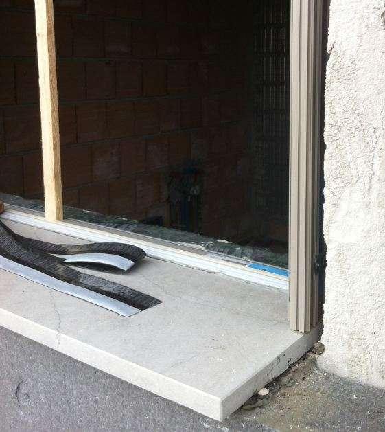 Prima il controtelaio o la soglia in marmo soluzioni per la posa in - Finestra scorrevole costo ...