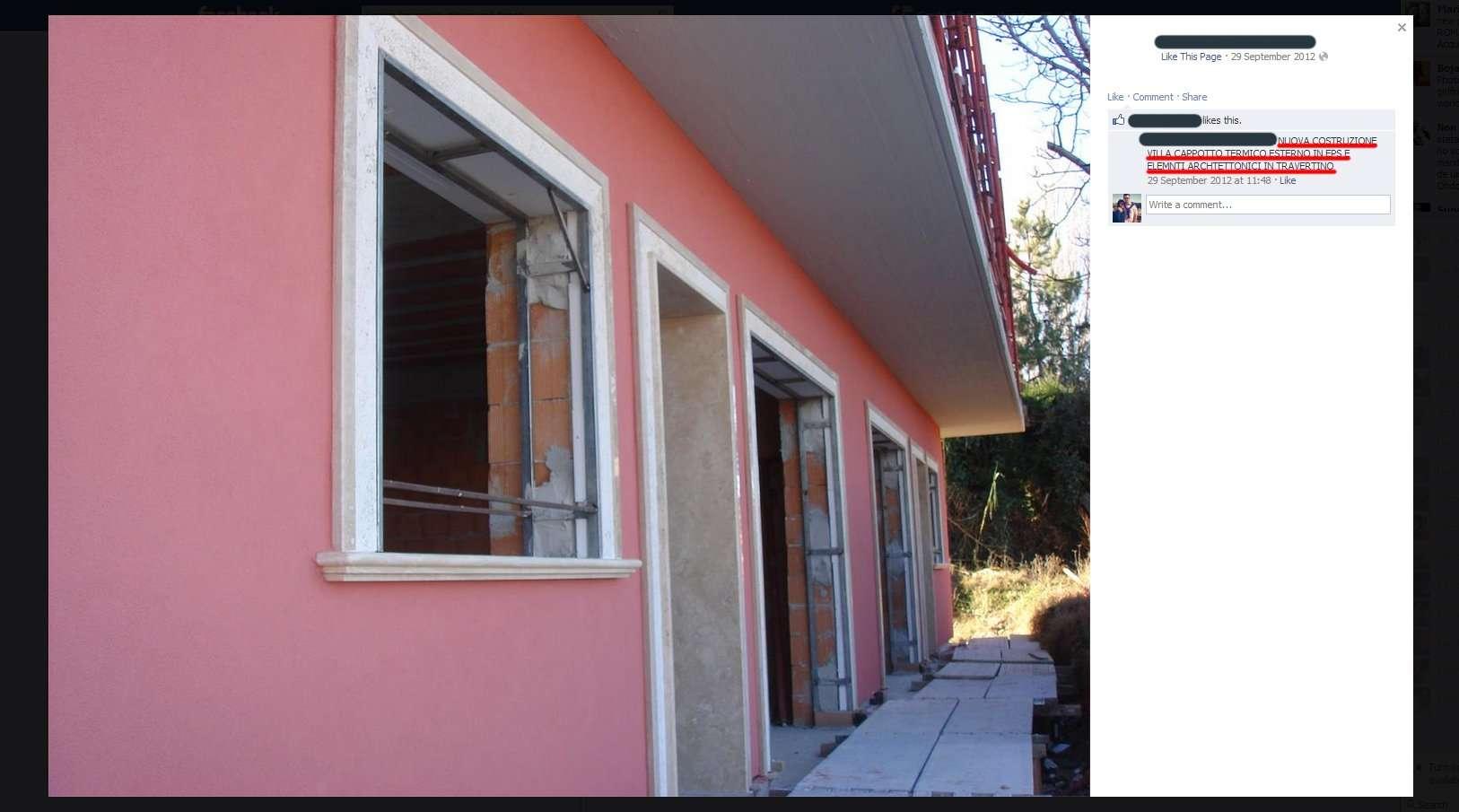 Villa con cappotto e controtelai in ferro - Aprire finestra muro esterno ...