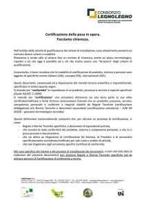 Comunicato LegnoLegno Posa Certificata