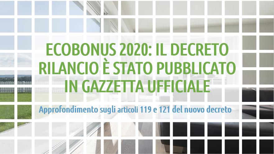 Decreto Rilancio ecobonus 2020 infissi