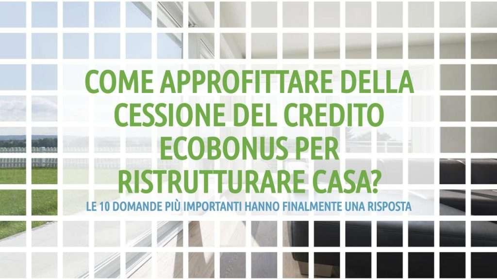 cessione_credito_ecobonus_posaqualificata: titolo dell'articolo in verde