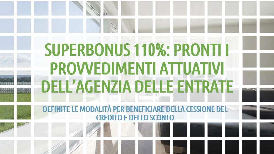 provvedimenti attuativi Superbonus 110% Agenzia delle Entrate (posaqualificata.it)